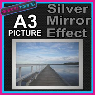 BOARDWALK ALUMINIUM PRINTED PICTURE A3 SIZE SPECIAL EFFECT PRINT NOT CANVAS